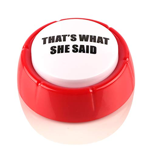 Madanar That's What She Said Easy Button Funny Classic Office Michael Scott Quote Gag Gift - The Office TV Show Merchandise