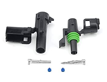 1 PIN Weather Pack Connectors 5 Sets 12-16 AWG used for cars trucks motorcycle boat trailer marine jetski  1 PIN