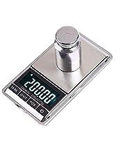 ميزان رقمي صغير محمول وزنه 200 جم × 0.01 جم، ميزان جيب الكتروني بشاشة ال سي دي مع حقيبة، مناسب للمطبخ، وزن المجوهرات والماس