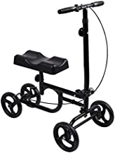 Knee Scooter All Terrain Give Me Economy Steerable Foldable Knee Walker Crutch Alternative with Thick Knee Pad in Black