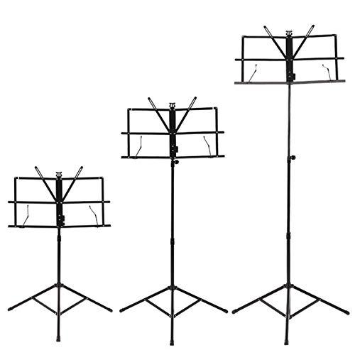 NotenständerFaltbares Notenblatt Stativständer Notenständer Mit Höhen- Und Winkelverstellbarer MetallplatteTragbarMetallPodestständer