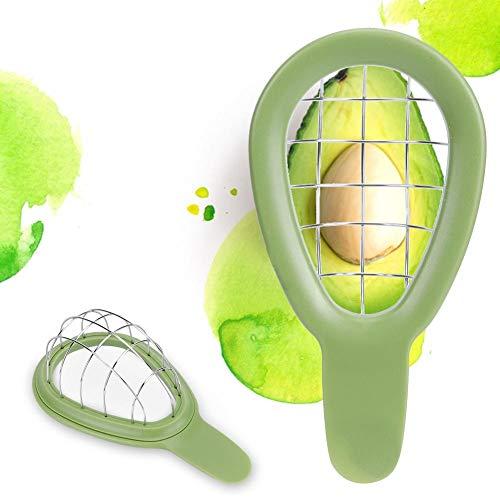 Utensile per cuocere e taglier di avocado in acciaio inossidabile Affettatrice di pezzi di avocado per avocado Taglia unica Tagliatelle Utensili da cucina Utensili da cucina