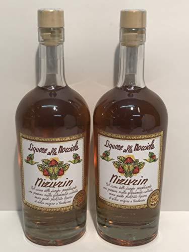 Liquore di nocciole 2x70cl, licor de avellanas del Piamonte, licor con avellanas infundidas con alcohol y avellanas