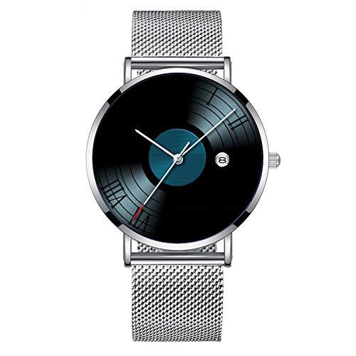 Minimalista Moda Cuarzo Reloj de Pulsera Elite Ultra Thin Impermeable Reloj Deportivo...