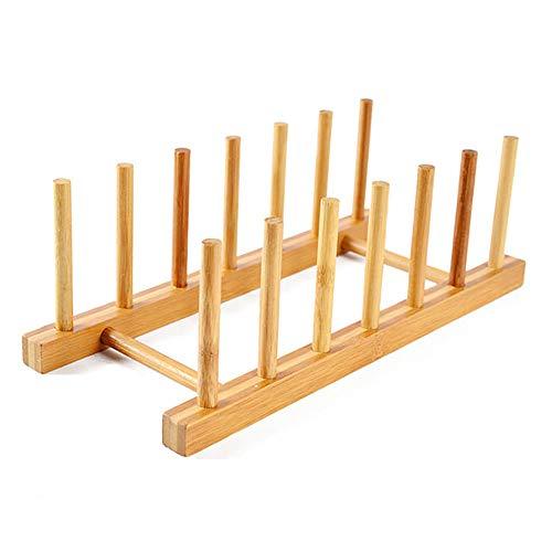 JOUDOO ディッシュスタンド 竹製 木製 まな板スタンド 水切り ラック キッチン 多機能備品棚 コップ CD 本 取り外しできる 組み立てる 収納スタンド 四つサイズ ZBJ001 (六つの格子)