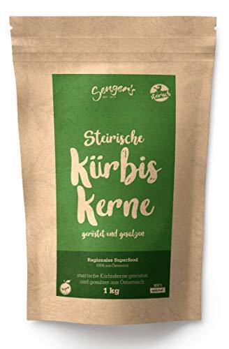 Steirische Kürbiskerne geröstet und gesalzen natürlich, vegan gesunde Knabber-Kerne 1kg