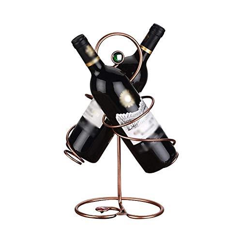YFGQBCP botellero Decoración de Racks de Vino labrado 2 Botellas de Decoraciones de Piedras Preciosas Rack de Botellas de Vino Europeo Sala de Estar Gabinete de vinos Inicio Creativo
