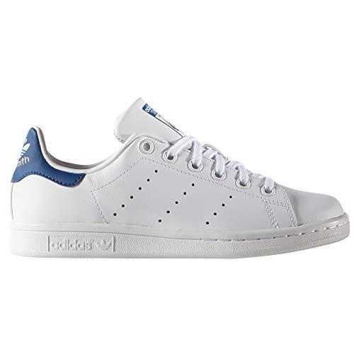 adidas Stan Smith Zapatillas Blancas para Mujer. Tenis, Sneaker.Ms (38 EU, White/White/EQT Blue)