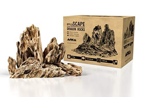 ARKA Aquatics myScape-Rocks Dragon - Drachensteine - natürliches Gestein für einzigartige Aquascapes in jedem Süßwasseraquarium & Terrarium, ideal für Aquarienbreiten bis ca. 60 cm, 5 kg, Braun, MSRD5