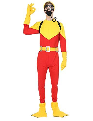 Mens Scuba Steve Diving Dive w/Backpack Movie Halloween Costume Standard