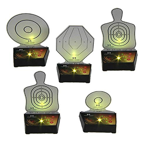 Interactive Multi Target Training System (5 Pack) - Use alone or as an add-on to another Laser Ammo package to create countless training scenarios & simulated match stages in the comfort of your home