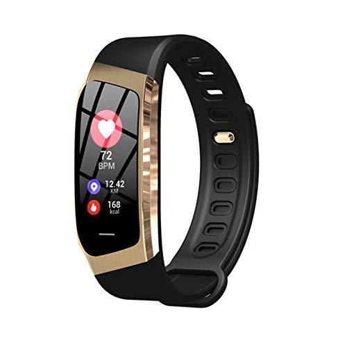 LXZ E18 Pulsera Inteligente Presión Arterial Monitor De Ritmo Cardíaco Actividad De Fitness Tracker Smart Watch Menores Impermeables Hombres Y Mujeres Pulseras Deportivas para Android iOS,D