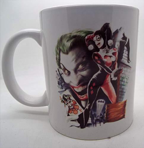 DKISEE Harley Quinn and Joker - Taza de cerámica (325 ml), diseño de cómic