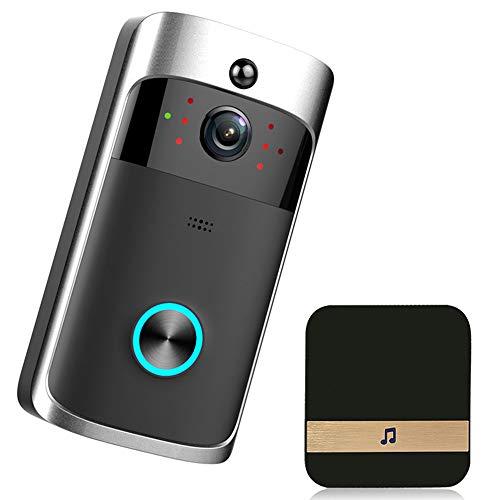 ZhiNeng-nh Smart Camera Video Telefono del Portello Campanello per Porte del Campanello di WiFi per Gli Appartamenti IR Allarme Wireless...