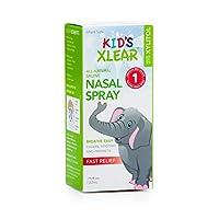 Xlear - キシリトール配合の子供の生理食塩水鼻スプレー - 0.75ポンド