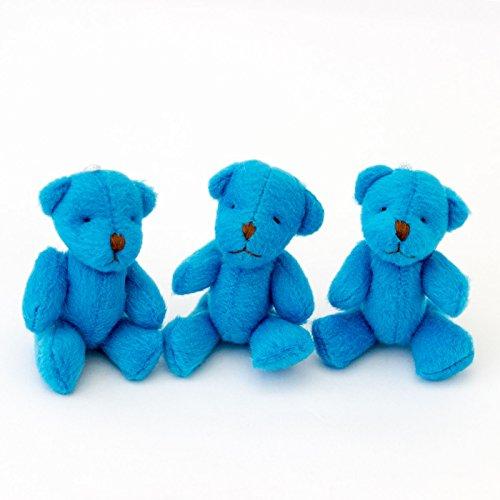 NEUF - 3 X Oursons En Peluche - Bleu Doux Mignonne Adorable - Cadeau Noël Anniversaire