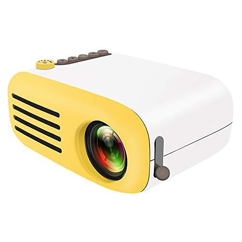 Mengen88 Home micro projector mini LED projector HD 1080P afspelen focus lens, kan 60-inch groot scherm, geschikt voor home theater, conferentieruimte video diavoorstelling, Geel