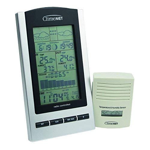 ClimeMET CM9088 New & Improved Digital Wireless Weather Station Now with...