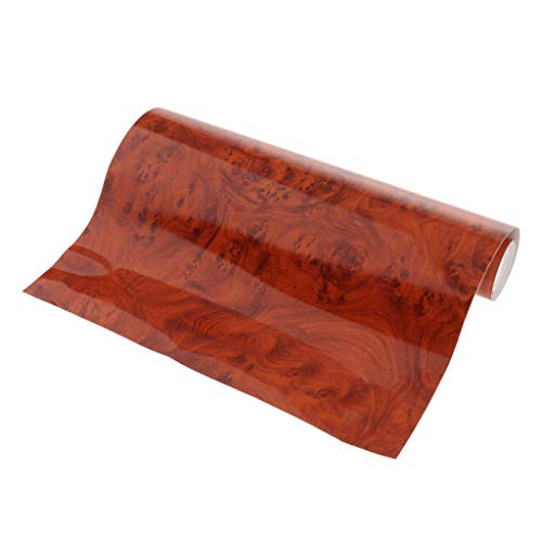 perfk Premium Auto Folie Selbstklebend Dekorfolie Fensteraufkleber PVC Aufkleber für Auto Möbel Küche Küchenschrank Holz Optik, Ca. 30 x 200 cm - W1303