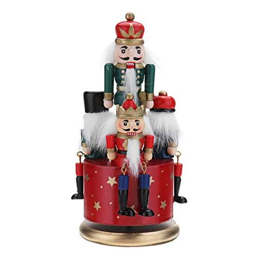 Kexing Christmas Guardia in Legno Decorazioni Schiaccianoci Decor 4 Soldato Toy Music Box Regalo