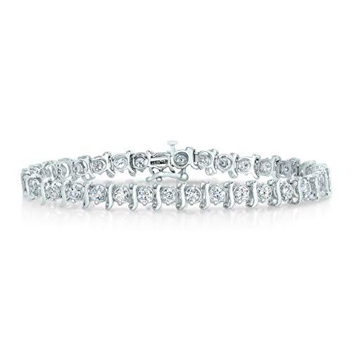 3 cttw 14K White Gold Classic Diamond Tennis Bracelet 7 Inches