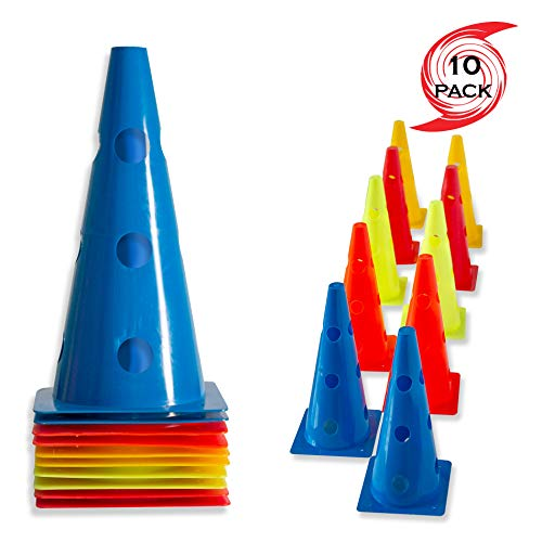 """Durable Plastic Sports Agility Training Cones for RC Racing Tracks 4/"""" 20 Pack"""