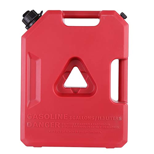 HapChildhood 3 Gallon Fuel Pack Spare Container Off Road ATV Pack Gas Can Spare Fuel,Used for Motorcycles and Off-Road Vehicles