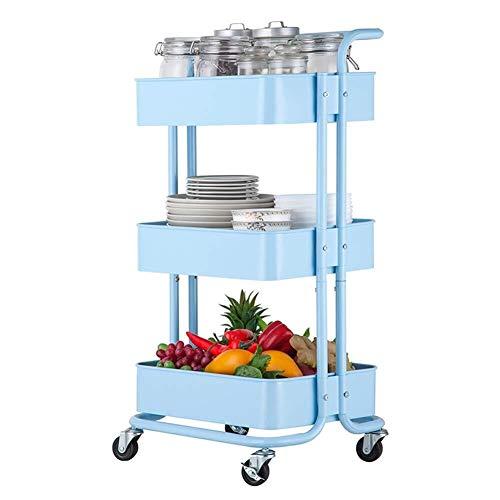 Portable Cart - GR / 3 Plataforma de Belleza Malla Carro contenedor...