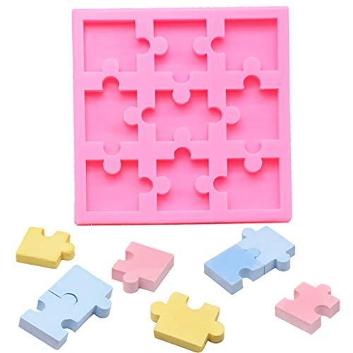 Youliy Puzzle Pieza Resina Molde Silicona Puzzle Crayones Fabricante Silicona Molde Arte Artesanía