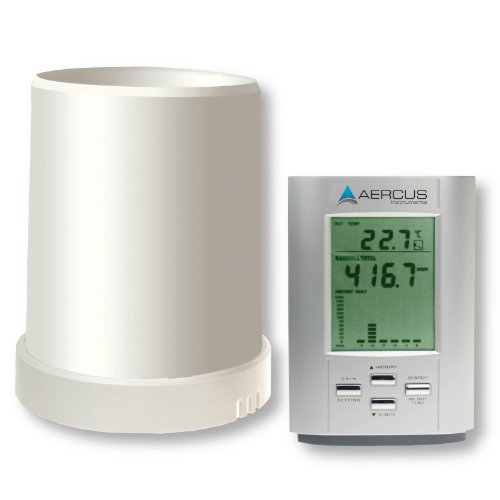 Aercus Instruments KW9015 Rain Gauge with Out/Indoor Temperature and Beginner's Guide (eBook)
