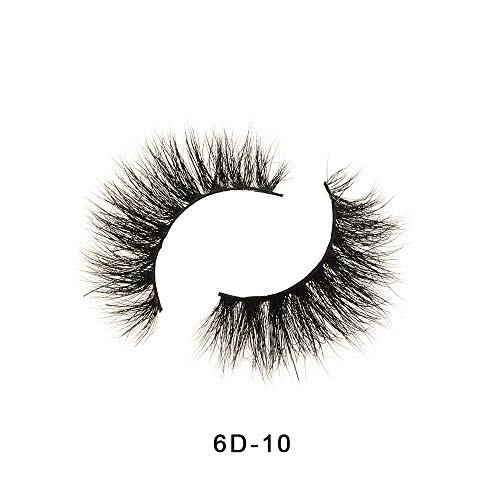 Extension de maquillage de cils de vison de couronne 3D d'apparence naturelle de faux cils (6D-10)