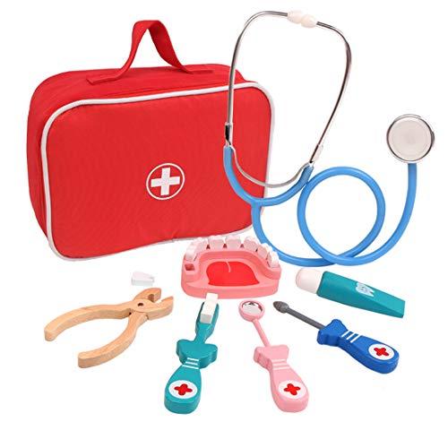 ColiCor Arztkoffer Kinder Spielzeug Arztkoffer Zahnarzt Stethoskop für Kinder