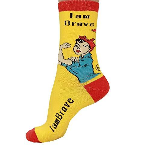 Rosie the Riviter Socks: I am Brave
