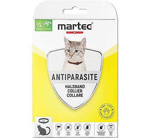 martec PET CARE Katzenhalsband gegen Zecken Flöhe und Milben Schutz vor Parasiten