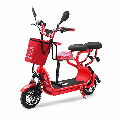 WYNBB Adultos Scooters EléCtricos con Asiento MonopatíN EléCtrico Plegable Patinete EléCtrico PortáTil Ciclomotor Electrico E-Scooters Movilidad 30Km/h,Red