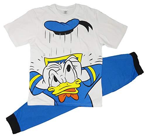 Pyjama für Herren und Erwachsene, Batman, Spiderman, Superman, Avengers Jurassic Park, Harry Potter Pyjama – Größe S-XL Gr. L, Donald Duck