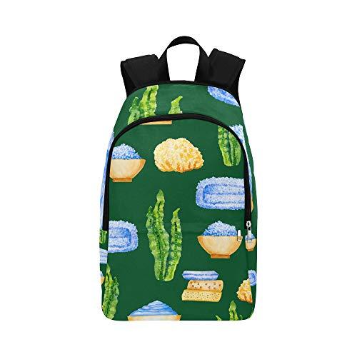 Casual Tote Bag Green Sea Water Bio Food Kelp Durable Water Resistant Classic Best Hiking Bag Cool Backpacks for Men Ladies Bags for College College Bags for Girls