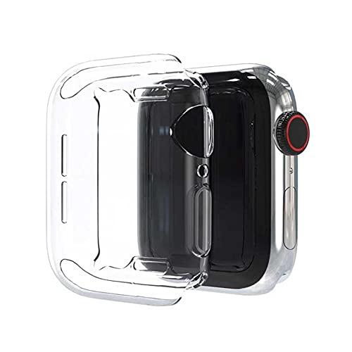 Capa Transparente Silicone Compatível Apple Watch 38 40 42 44mm [FIT IT] (Transparente, 38mm)