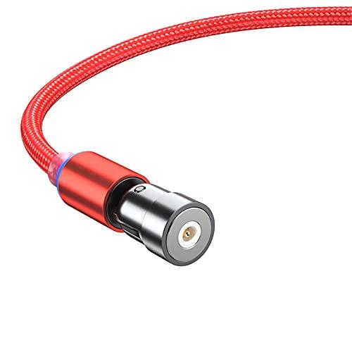 Gorra de Grado Cable magnético de Carga rápida Micro USB Tipo de Cable C USB C Cable de Cable Cargador de teléfono USB Cable Cable (Color : Micro USB Red, Length : 1m)