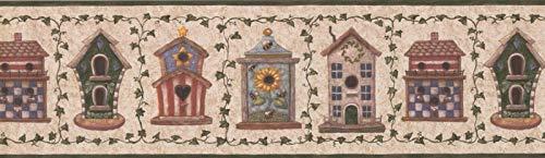 BV006162B Birds Birdhouse Garden Tapeten Bordüre 7