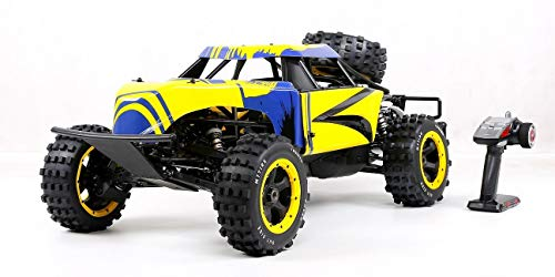 WYY 2WD RC Buggy Gasolina, 1/5 Gas De Coches De Juguete Off Road con 36Cc Motor De Gasolina para El Adulto, 2.4G Regulador De Radio Incluido,Amarillo