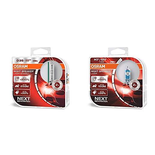 Osram Xenarc Night Breaker Laser D3S 66340Xnl-Hcb Duo Box + Night Breaker Laser H7  64210Nl-Hcb Duo Box