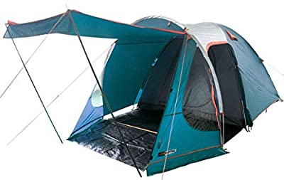 NTK Indy GT XL Sleeps up to 6 Person 14.2 by 8.0 FT Outdoor Dome Family Camping Tent 100% Waterproof 2500mm, European Design,?Easy Assembly, Durable Fabric Full Coverage Rainfly, Micro Mosquito Mesh.
