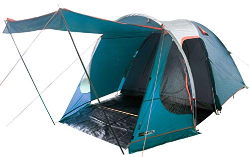 NTK Indy GT XL Sleeps up to 6 Person 14.2 by 8.0 FT Outdoor Dome Family Camping Tent 100% Waterproof 2500mm, European Design