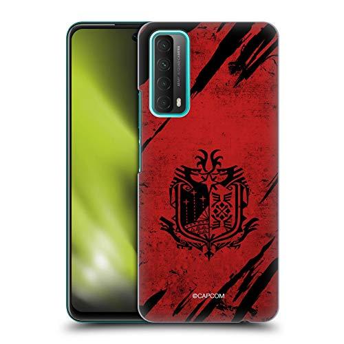 Head Case Designs sous Licence Officielle Monster Hunter World Grunge Logos Coque Dure pour l'arrière Compatible avec Huawei P Smart (2021)