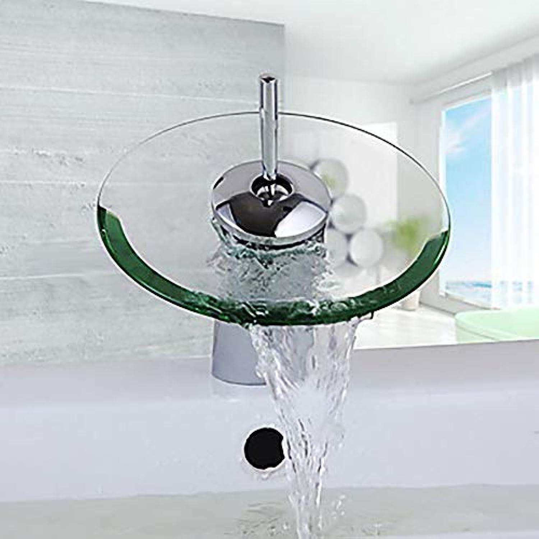 The only good quality Langlebig Moderner kreativer Hotel-Badezimmer-Wannen-Hahn - Wasserfall-einzelnes Loch einzelner Handgriff EIN Hahn Messing Glas praktisch