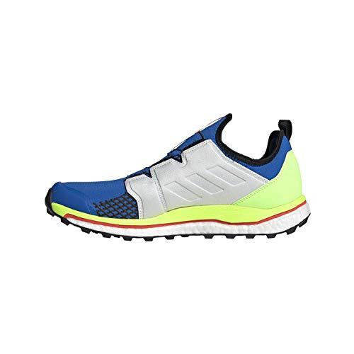 adidas Terrex Agravic Boa, Zapatillas Deportivas Hombre, Glory Blue/Non-DYED/Signal Green, 44 2/3 EU