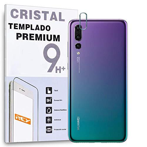 REY Protector de Pantalla Cámara Trasera Huawei P20 Pro, Cristal Vidrio Templado Premium