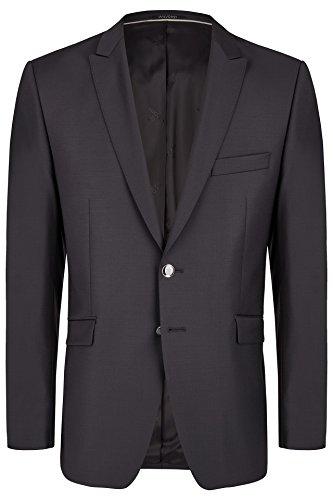 Wilvorst Sakko zum Hochzeitsanzug Tizian, schwarz in Glanztropical, Slimline SizeMap 60