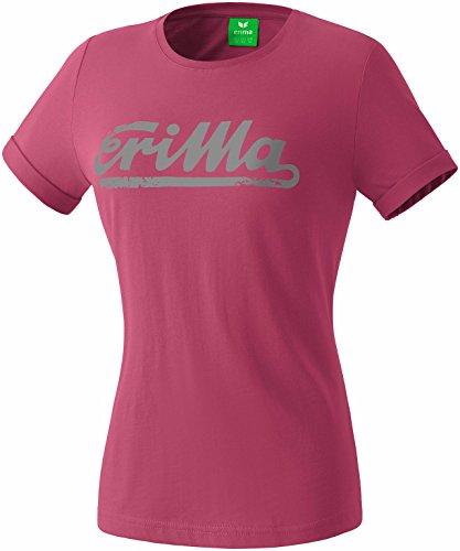 Erima Damen Retro T-Shirt, Dahlia, 46